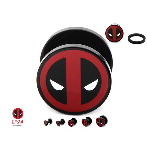 Deadpool Plug Earrings