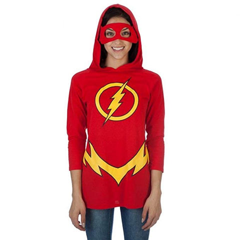 The Flash Womens Hooded Costume Shirt