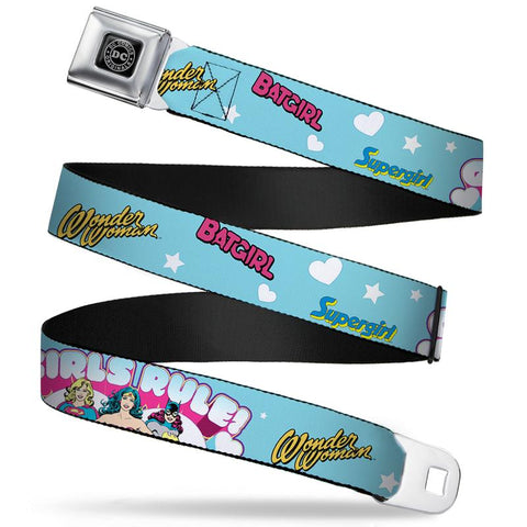 DC Comics Girls Rule Superhero Belt
