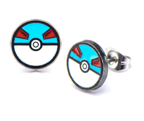 Pokémon Great Ball Stud Earrings