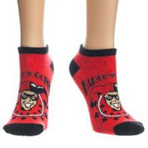 Harley Quinn Face Ankle Socks