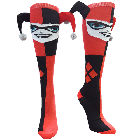Harley Quinn Jester Knee High Socks