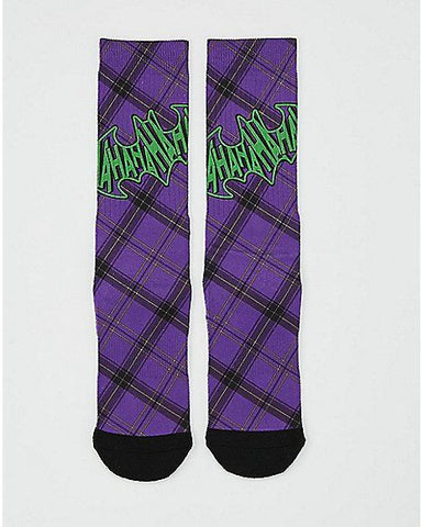 The Joker Plaid Crew Socks
