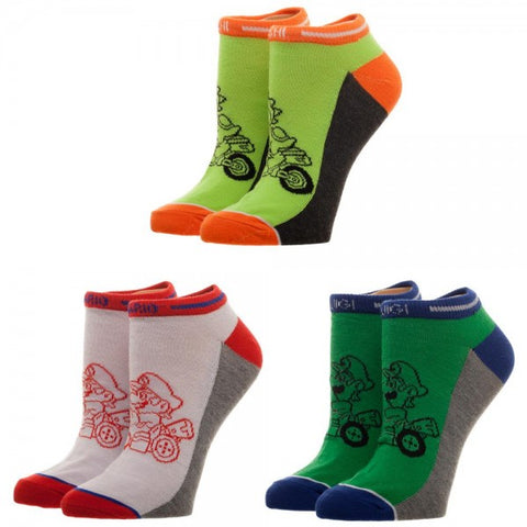 Mario Kart Ankle Sock Set
