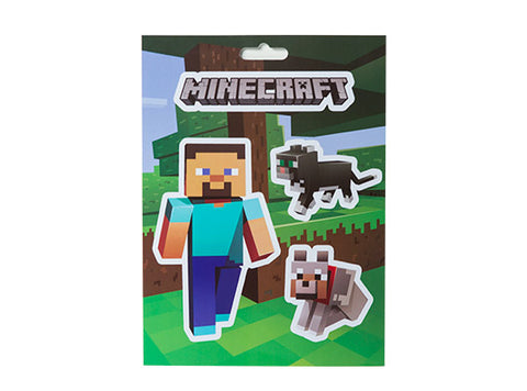 Minecraft Steve & Pets Sticker Pack
