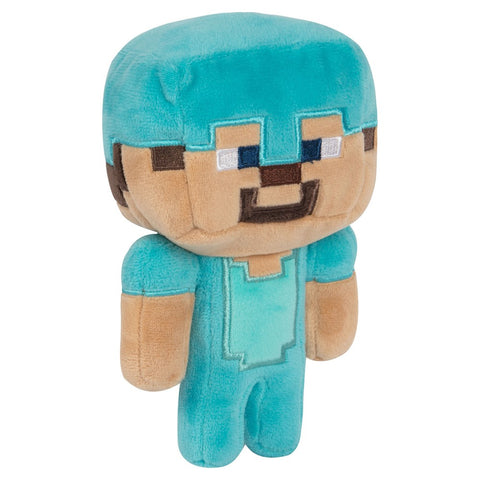 Minecraft Diamond Steve Plush