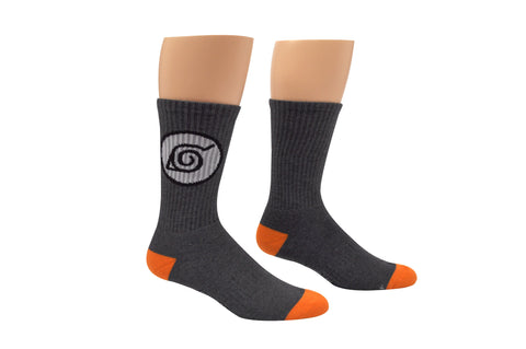 Naruto Leaf Logo Athletic Crew Socks