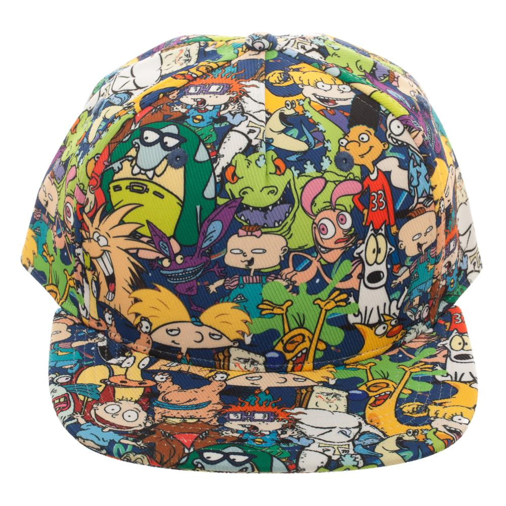 637bbcc42 Nickelodeon Character Collage Hat