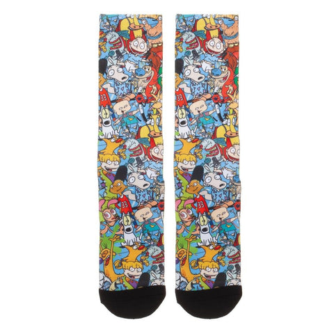 Nickelodeon Rewind Collage Crew Socks