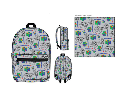 Nintendo 64 Collage Backpack