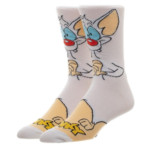 Pinky and the Brain Character Pinky Crew Socks