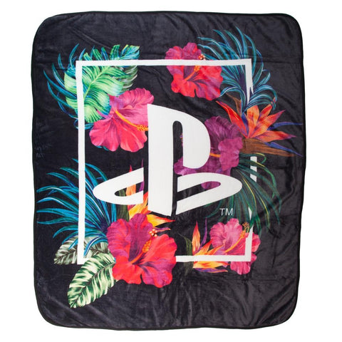 PlayStation Flower Throw Blanket