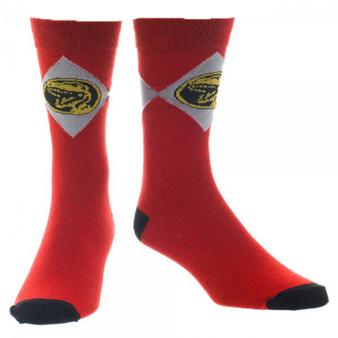 Power Rangers Red Ranger Crew Socks - Gaming Outfitters