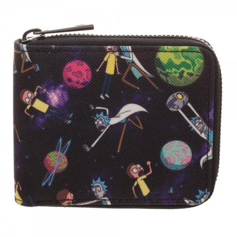 Rick & Morty Zipper Wallet
