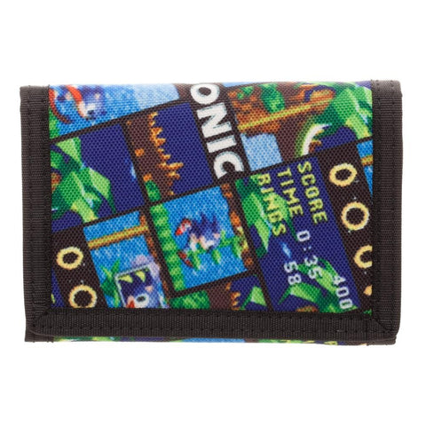 Sonic The Hedgehog Velcro Wallet