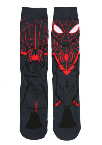 Spider-Man Miles Morales Character Crew Socks