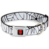 Spider-Man Web White Dog Collar