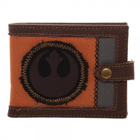 Star Wars Rebel Logo Stitched Canvas Wallet