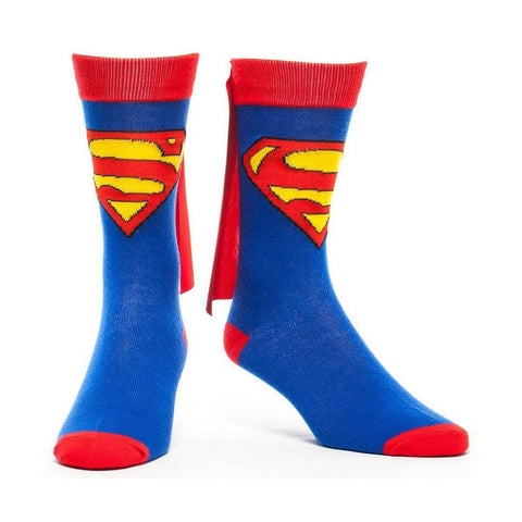Superman Crew Socks With Cape