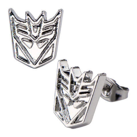 Transformers Decepticons Stud Earrings