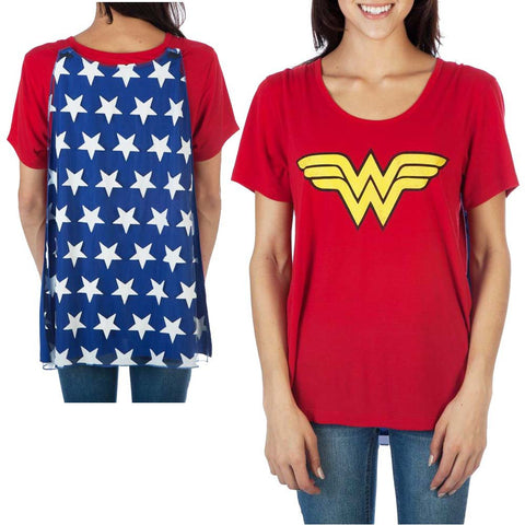 Wonder Woman Interchangeable Cape Shirt