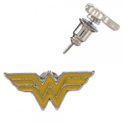 Wonder Woman Yellow & Silver Studs