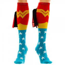 Wonder Woman Knee High Sock With Shiny Cape