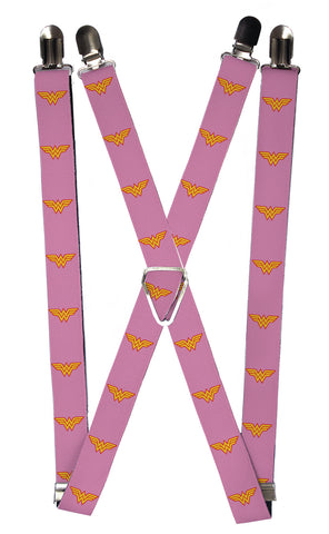 Wonder Woman Pink Suspenders
