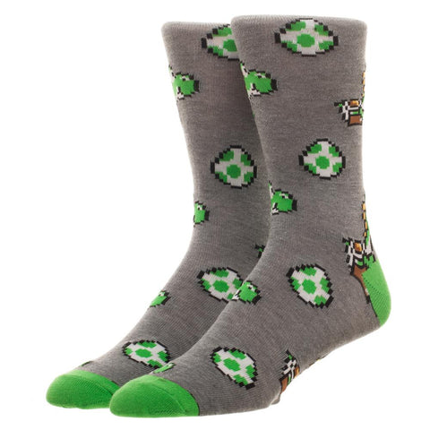 Super Mario World Yoshi Crew Socks