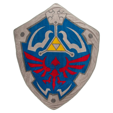The Legend of Zelda Hylian Shield Shaped Throw Blanket