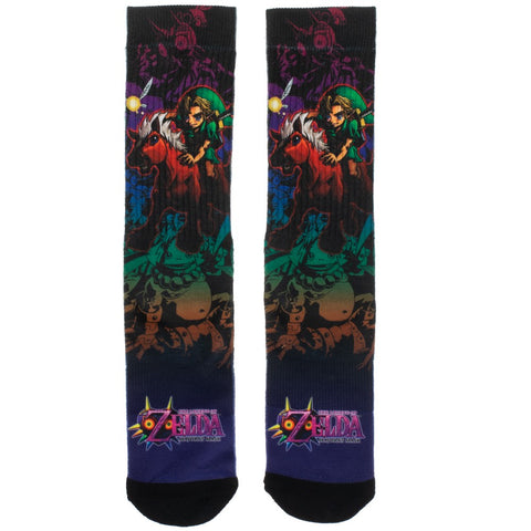 The Legend of Zelda Majora's Mask Crew Socks