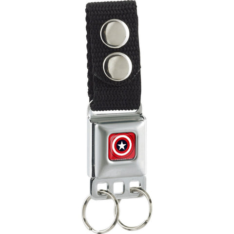 Captain America Logo Red Keychain