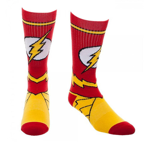 The Flash Costume Crew Socks