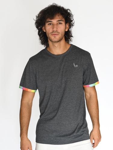 Madrid T-shirt - Rainbow Sleeve