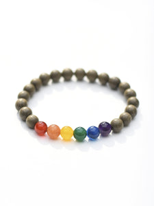 Laurel Wood & Gemstone Bracelet