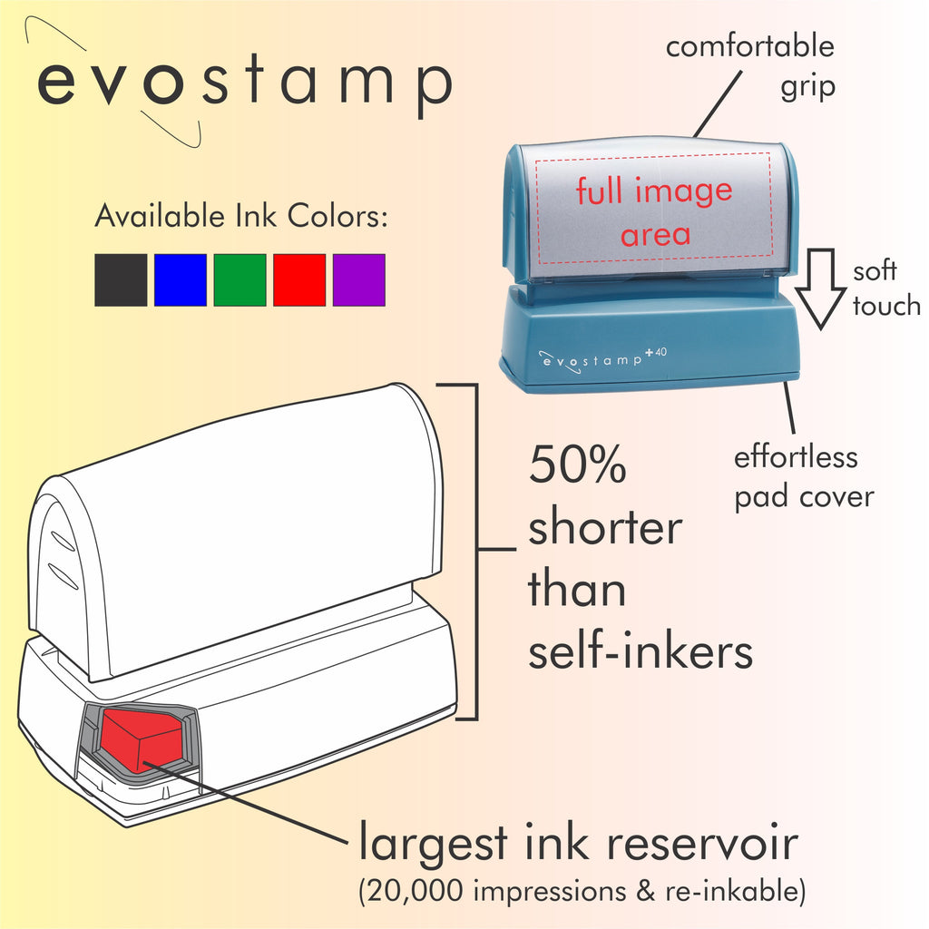 Flowing Pen Custom Address Stamp