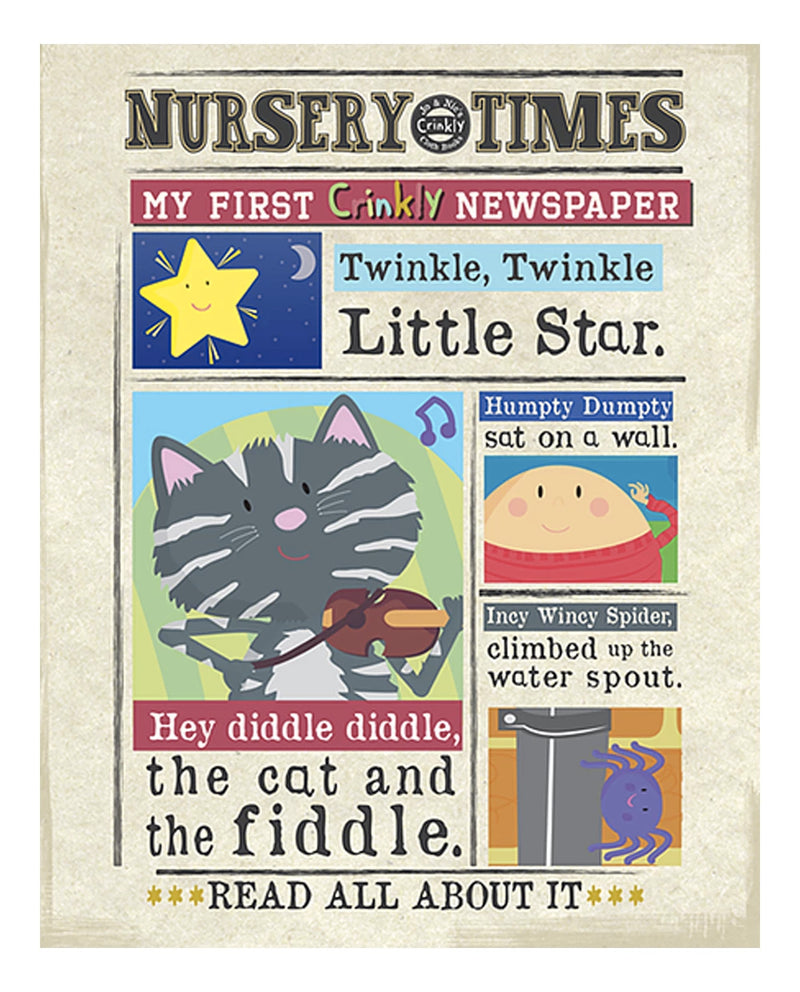 Hey, Diddle-Diddle - Nursery Times Crinkly Newspaper