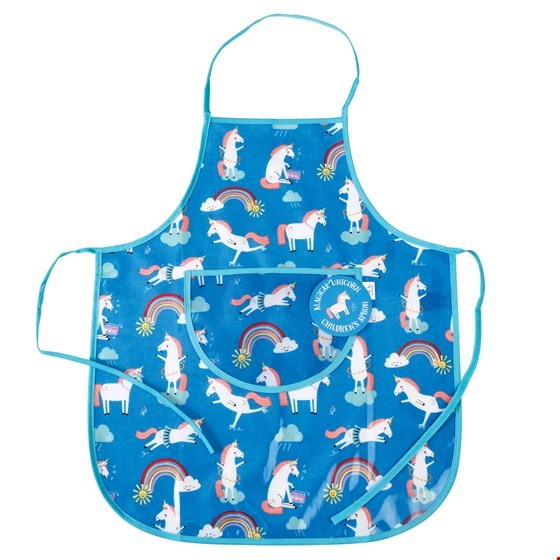 Unicorn Design Wipe Clean Kids Apron