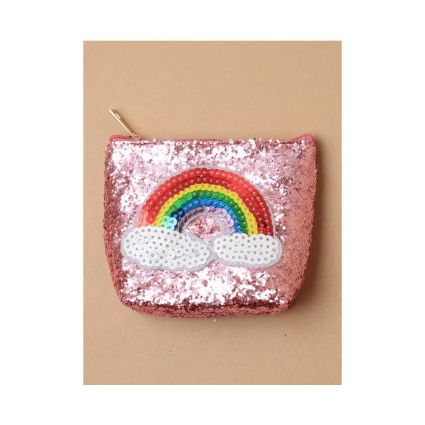 Sequinned Rainbow Purse