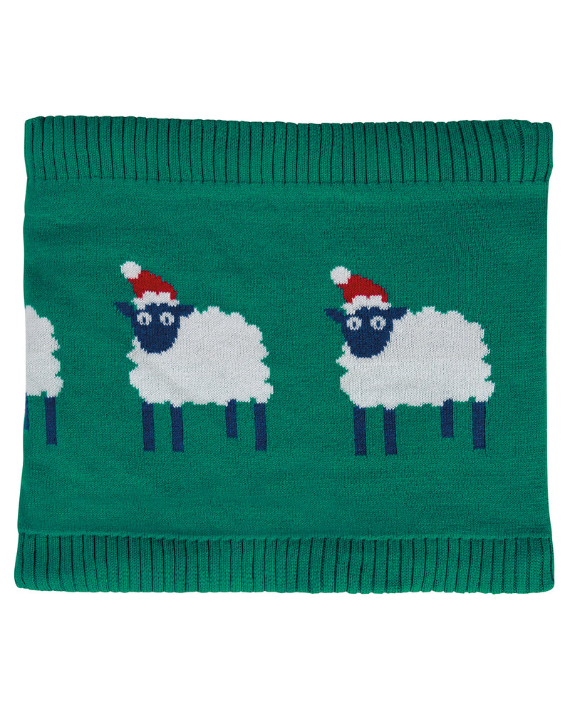 Frugi Cosy Knitted Christmas Sheep Snood