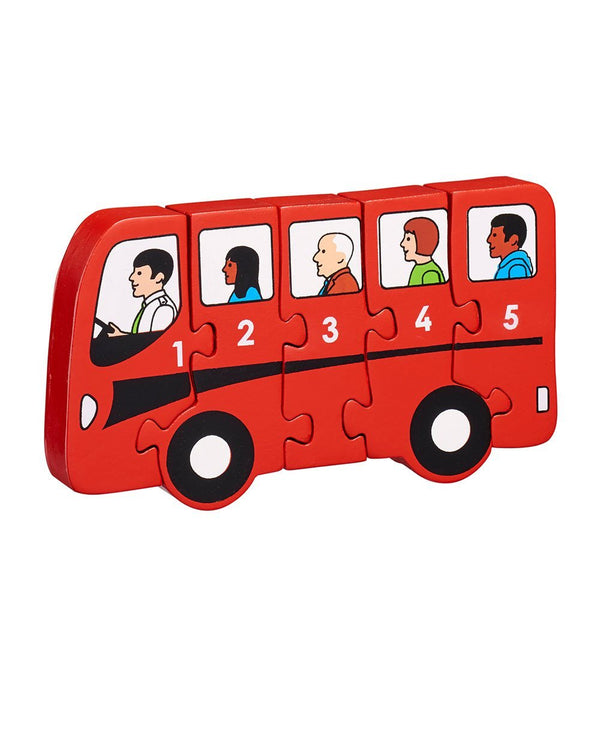 Wooden Bus 1-5 Counting Puzzle