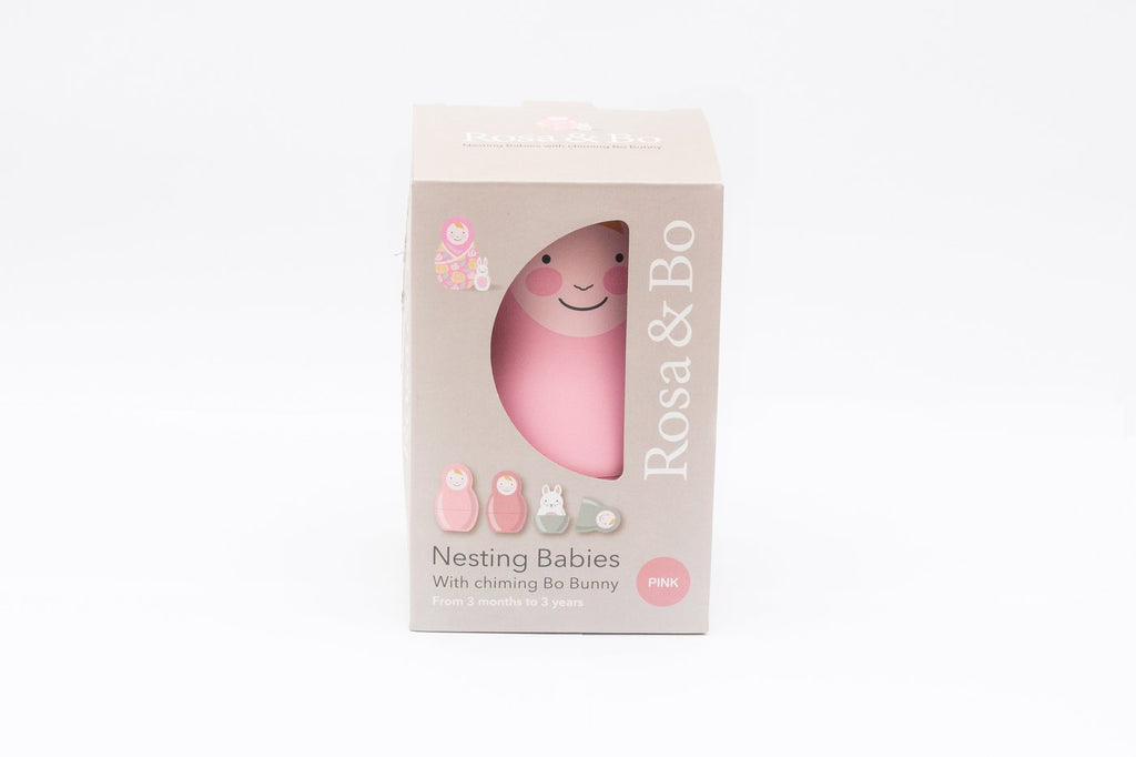 Pink Pastel Nesting Babies With Chiming Bo Bunny