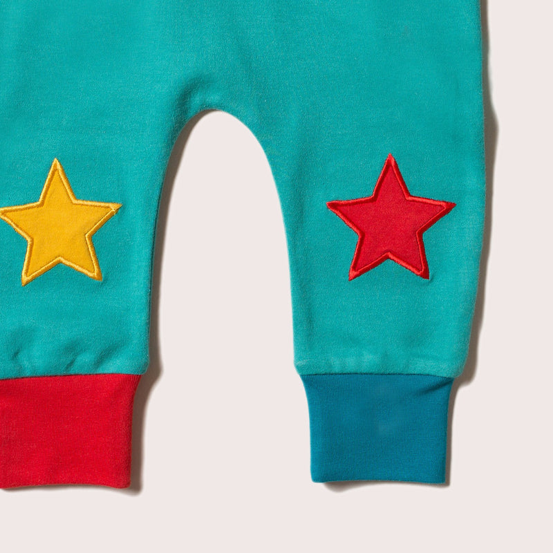 Organic Cotton Teal Star Joggers