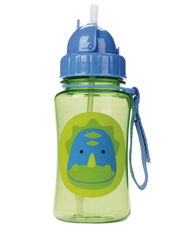 Dinosaur Bottle with Fitted Straw