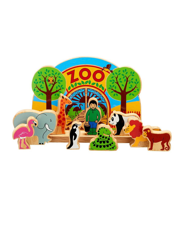 Wooden Zoo Play Scene