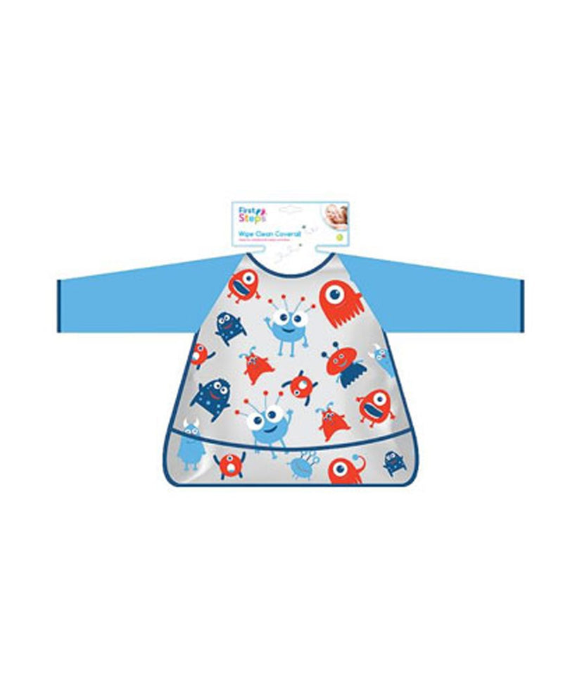 Aliens Long Sleeve Baby Bib