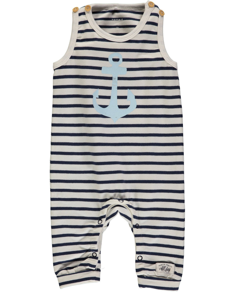 Organic Cotton Anchor Dungarees