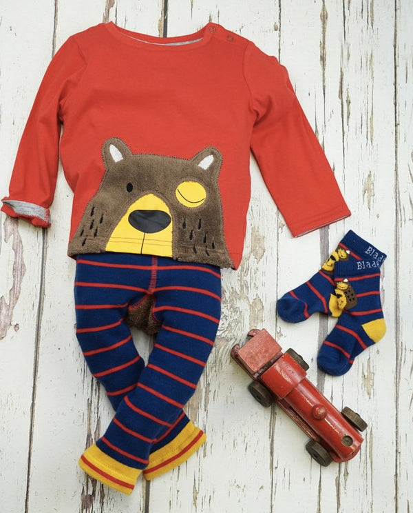 Blade and Rose Fluffy Bear Leggings & T-shirt Set
