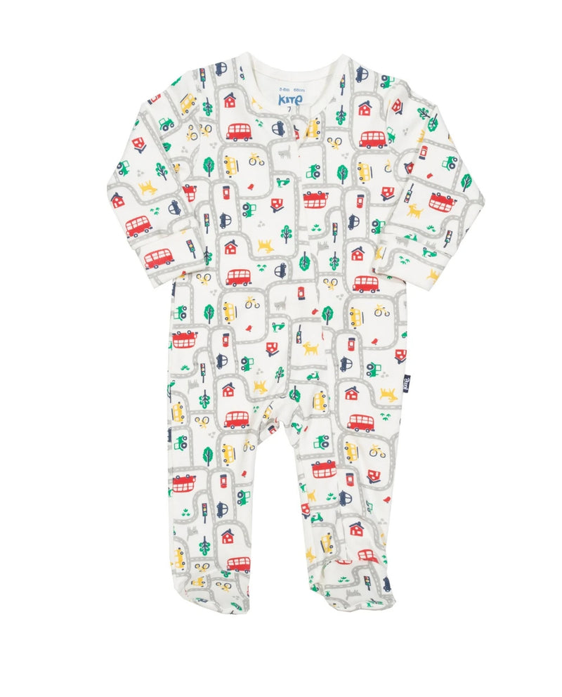 Red Bus Sleep suit - 9-12 months