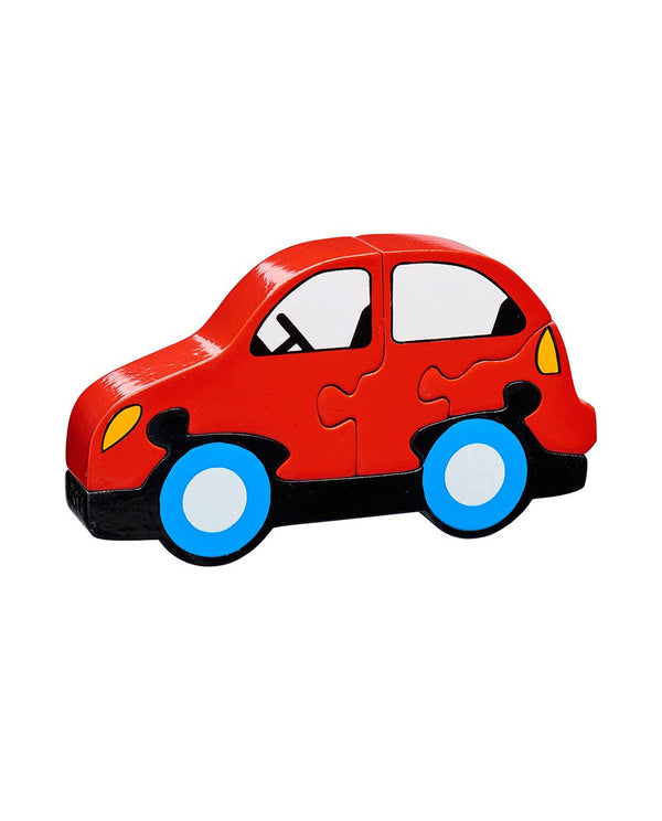 Red Car Wooden Jigsaw lanka kade